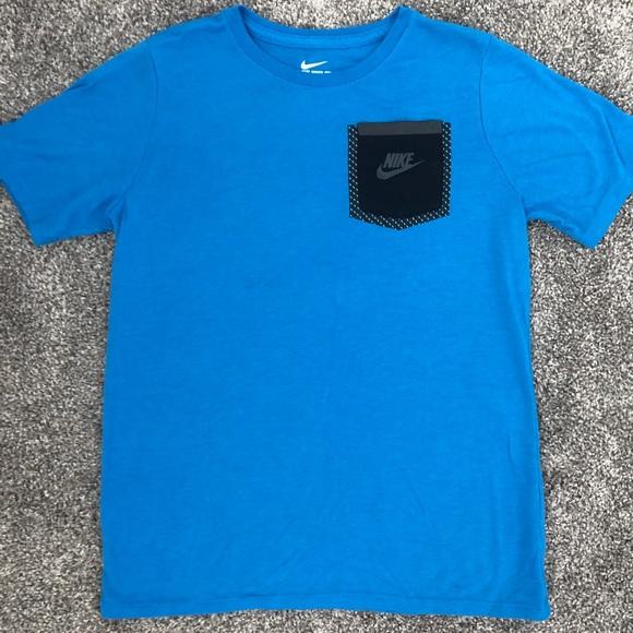 Nike Other - NIKE TEE - Size L Boys - Blue w/Black Pocket